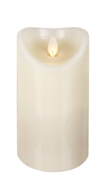 Ganz Ivory LED Wax Pillar Candle (LLWP1001)