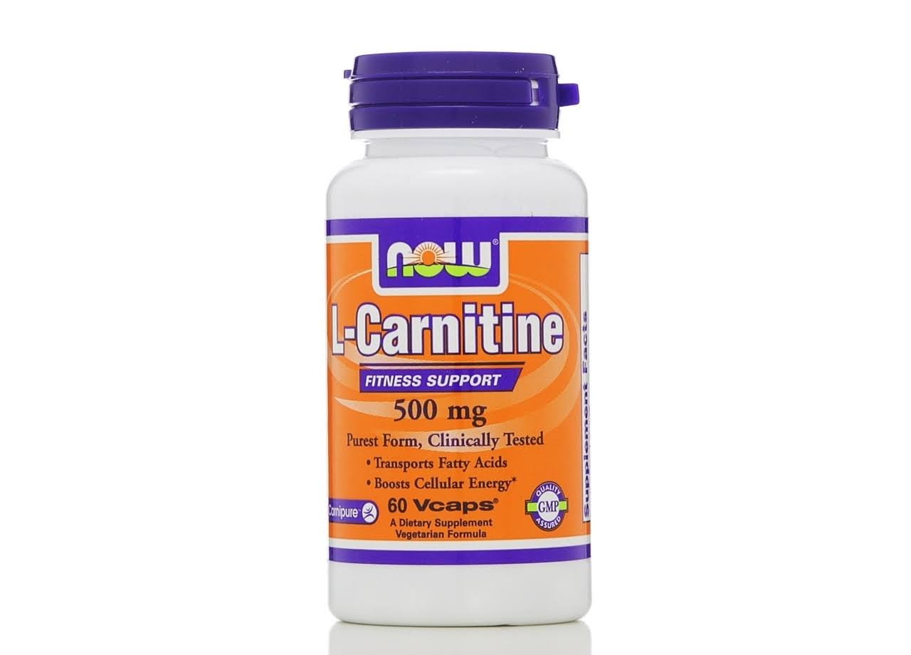 Now L-Carnitine, 500 mg, Vcaps - 60 vcaps