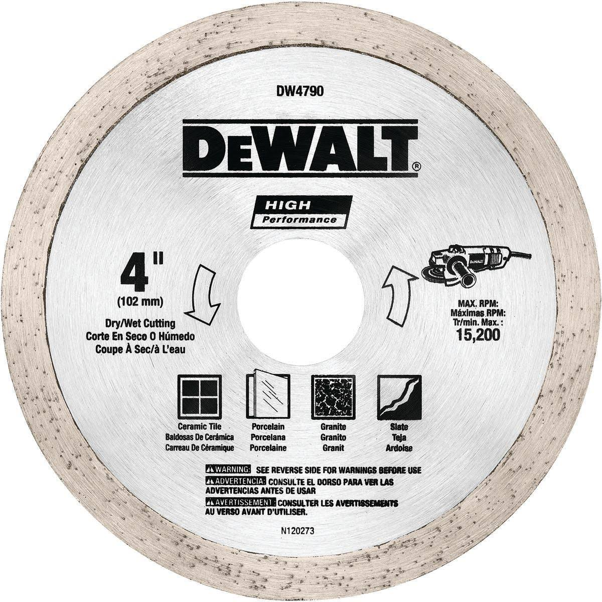 Dewalt Diamond Tile Blade Circular Saw Blades - 4""