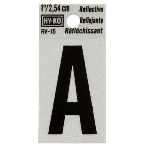 Hy-Ko Reflective Letter Sign - A, 1""