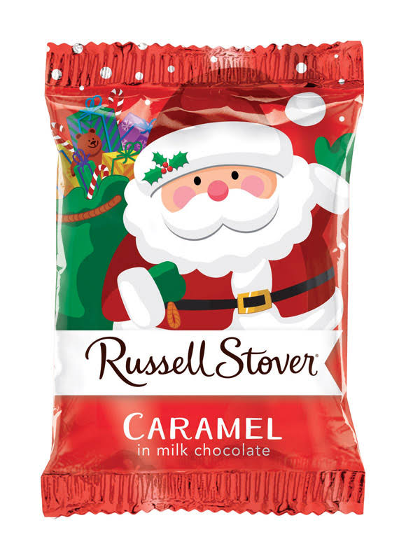 Russell Stover Caramel, in Milk Chocolate - 1 oz