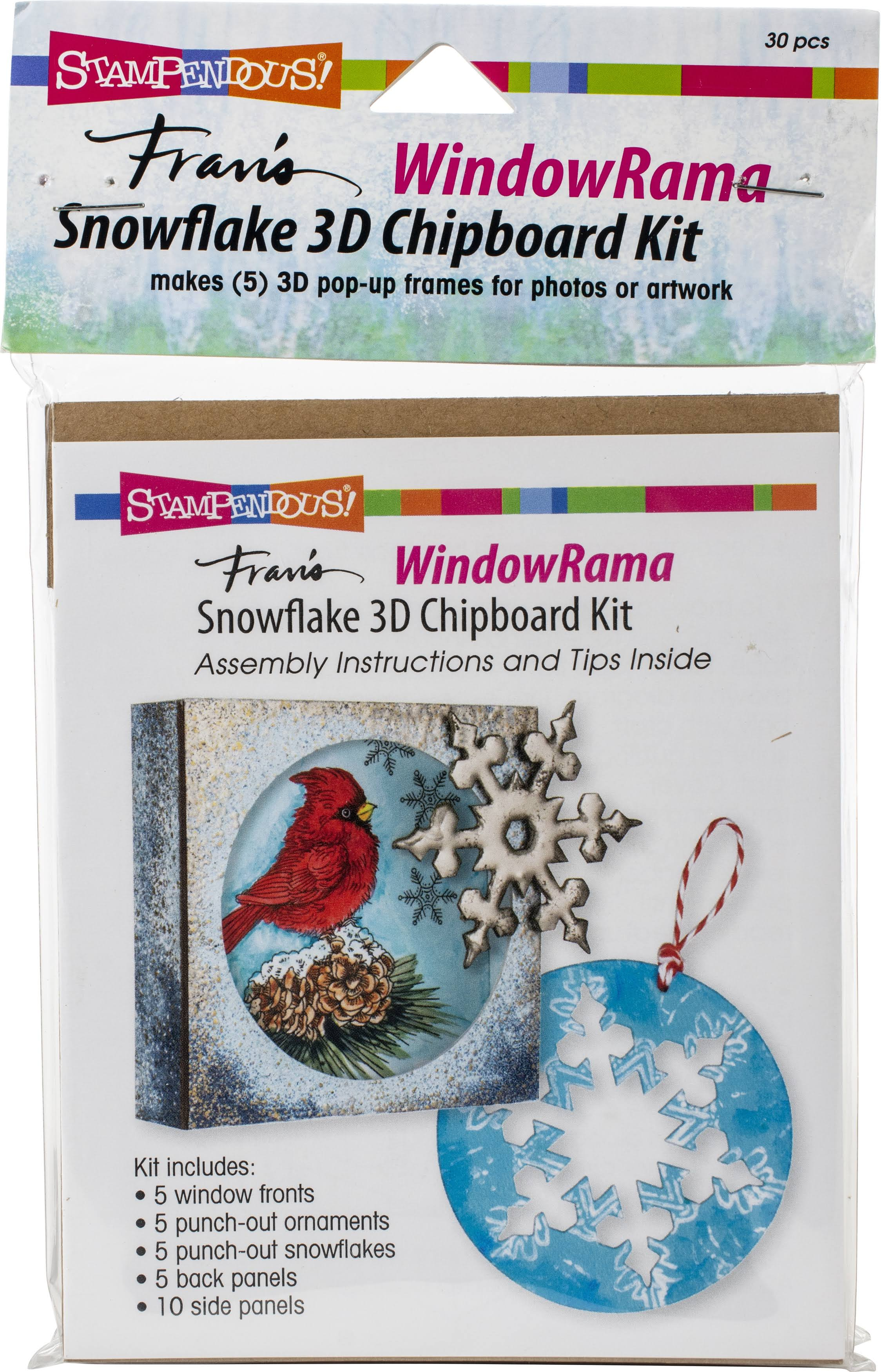 Stampendous WR502 Windowrama Snowflake Chipboard Kit
