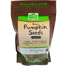 Are Pumpkin Seeds Called Pepitas by Now Foods Raw Pumpkin Seeds Unsalted 16 Oz 454 G Iherb Com
