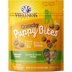 Wellness Crunchy Puppy Bites Dog Treats - Chicken and Carrots, 6oz