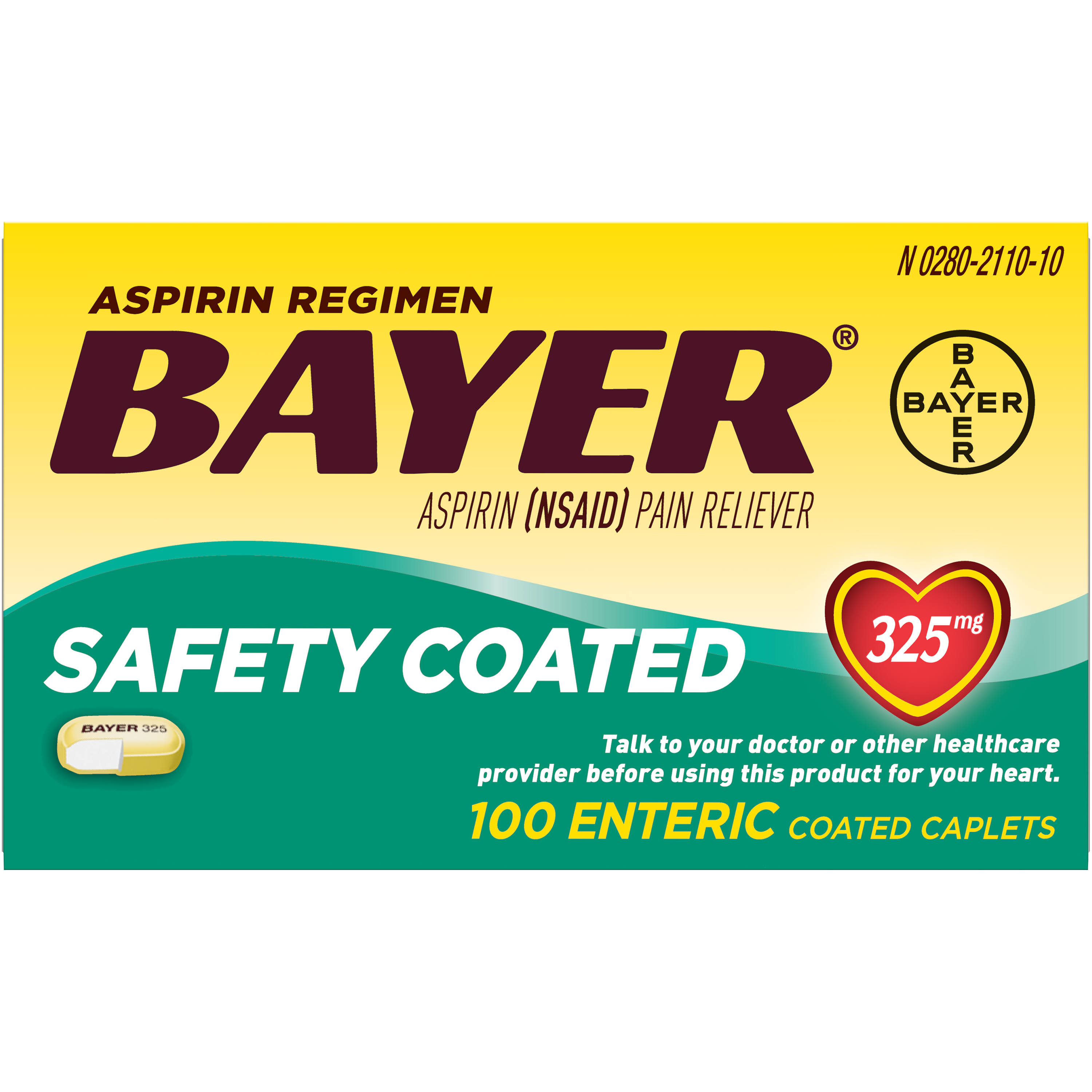 Bayer Aspirin Pain Reliever Caplets - 100ct