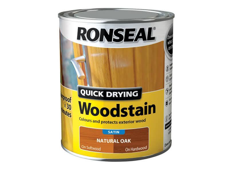 Ronseal Quick Drying Woodstain - Natural Oak