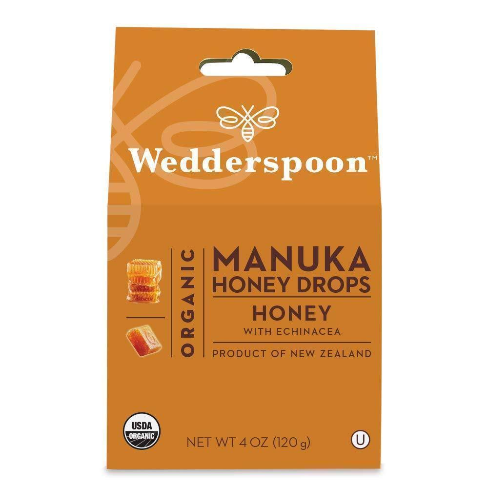 Wedderspoon Organic Manuka Honey Drops, Honey + Echinacea - 4 oz