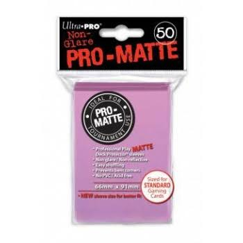 Ultra Pro Pro-Matte Pink Deck Protector