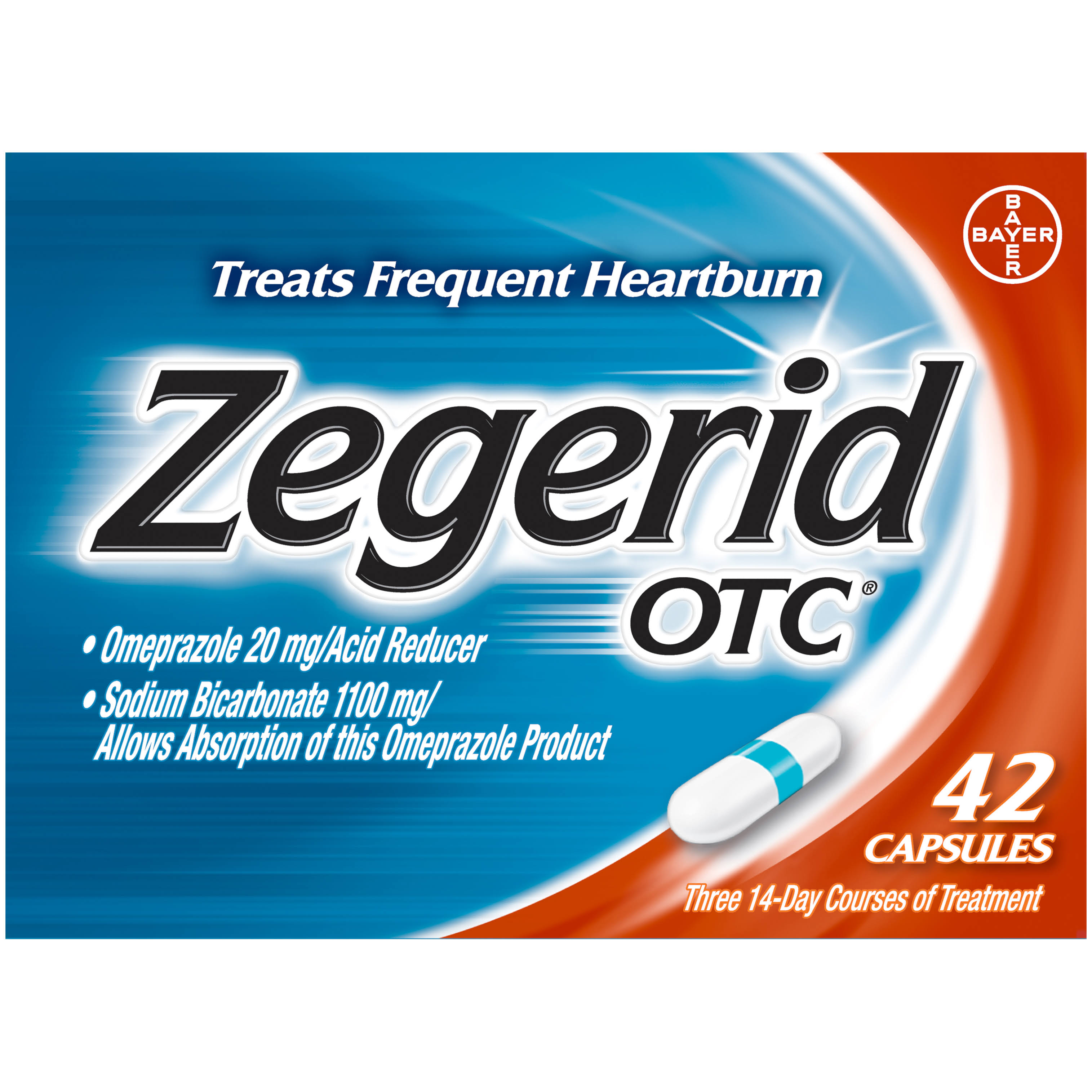 Zegerid OTC Treat Frequent Heartburn - 42 Capsules