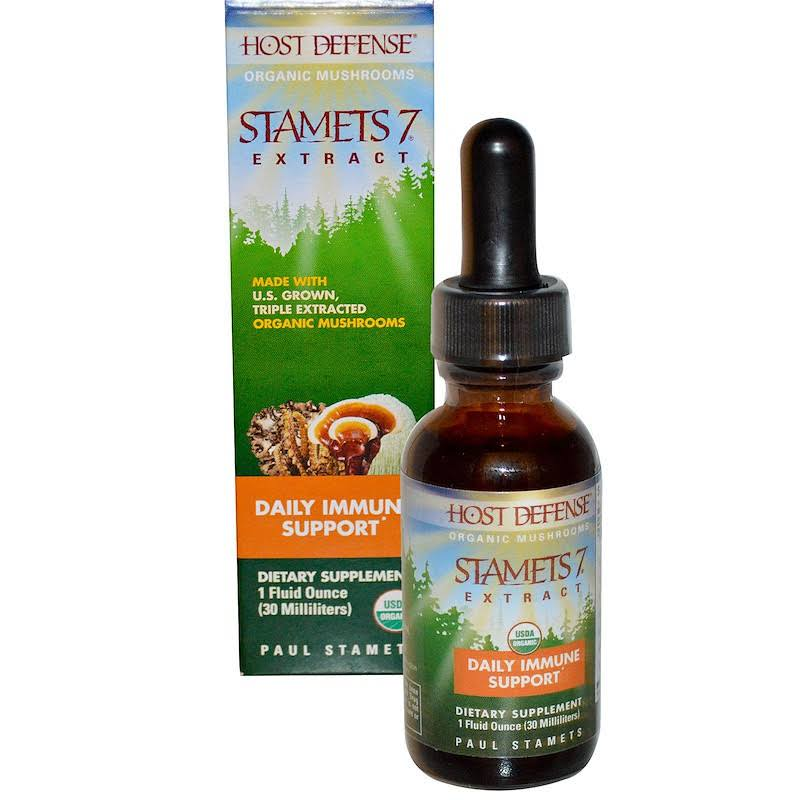 Host Defense Organic Mushrooms Stamets 7 Extract Daily Immune Support