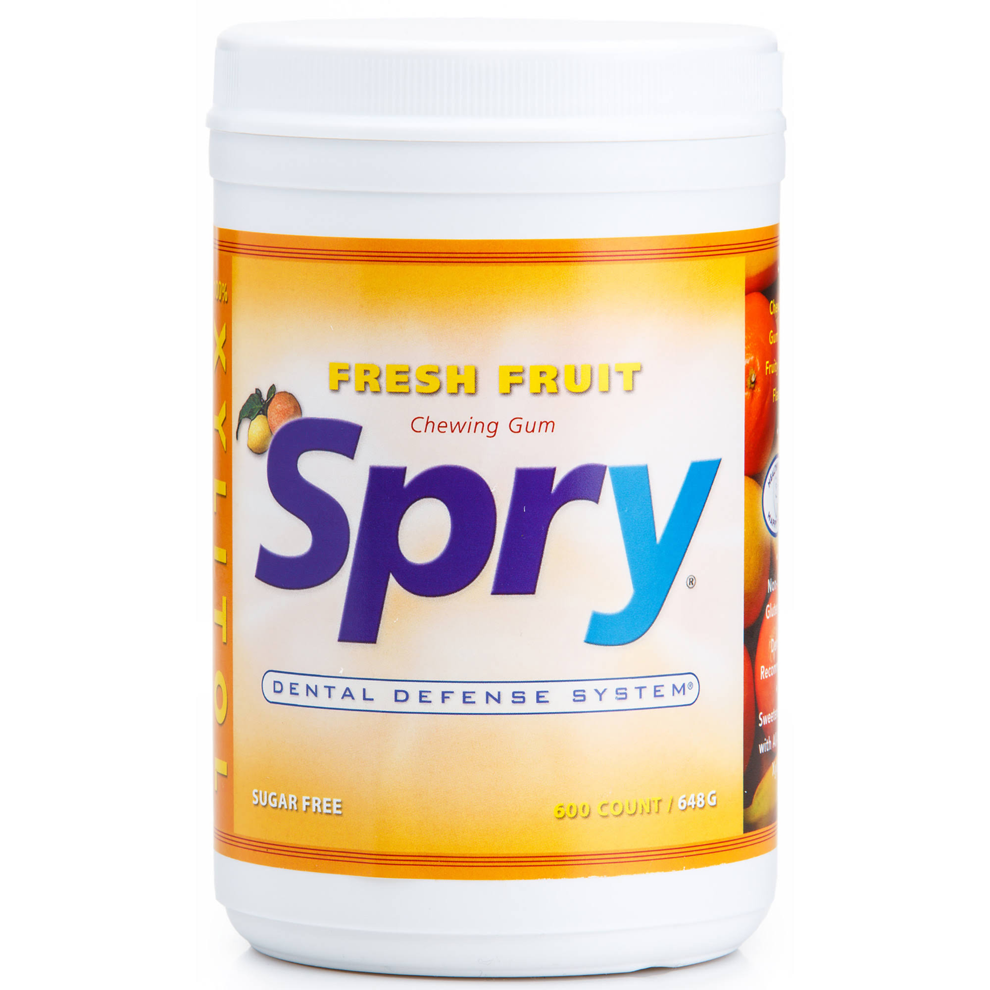 Spry Chewing Gum - Fresh Fruit, 648g, 600 Pieces