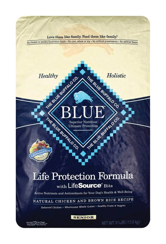 Blue Buffalo Senior Dog Food - Chicken and Brown Rice, 30lb