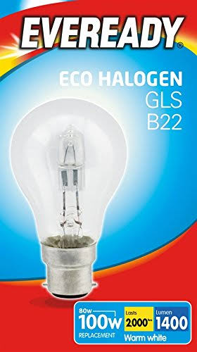 Eveready GLS Eco Halogen Light Bulb - 80W