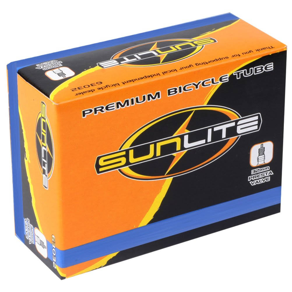 Sunlite Standard Presta Valve Bicycle Tube - 700 x 28-35, 32mm