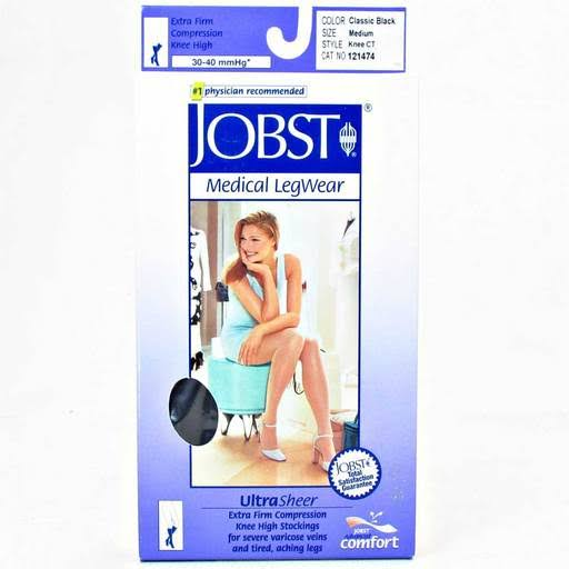 Jobst Ultrasheer 20-30 mmHg Small Natural Thigh High Silicone Dot Band