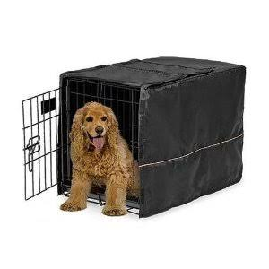 MidWest Quiet Time Dog Crate Cover - Black, 30""