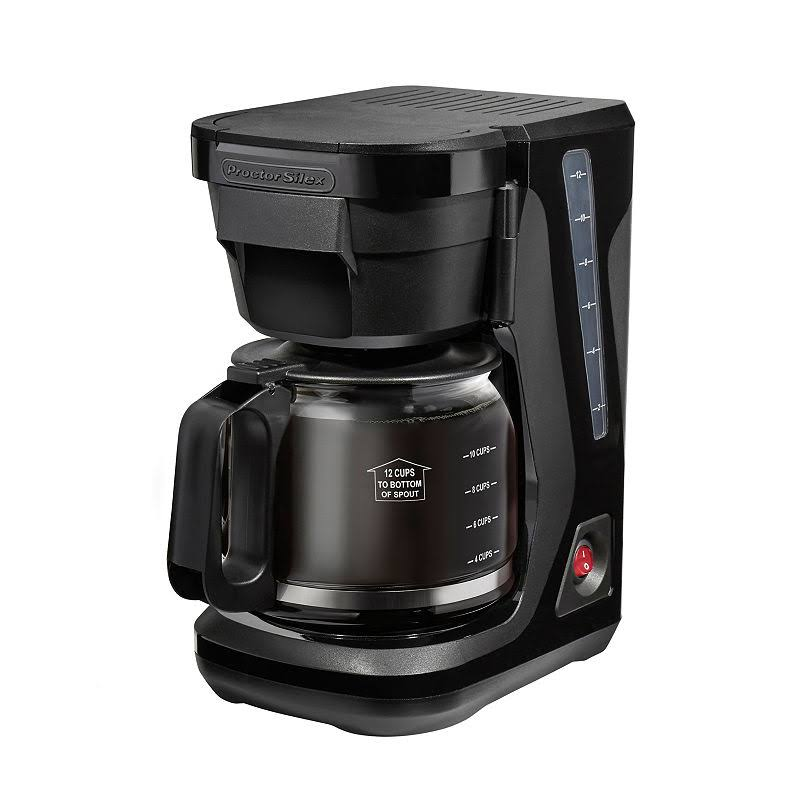 Proctor Silex Programmable Coffee Maker - Black, 12 Cup