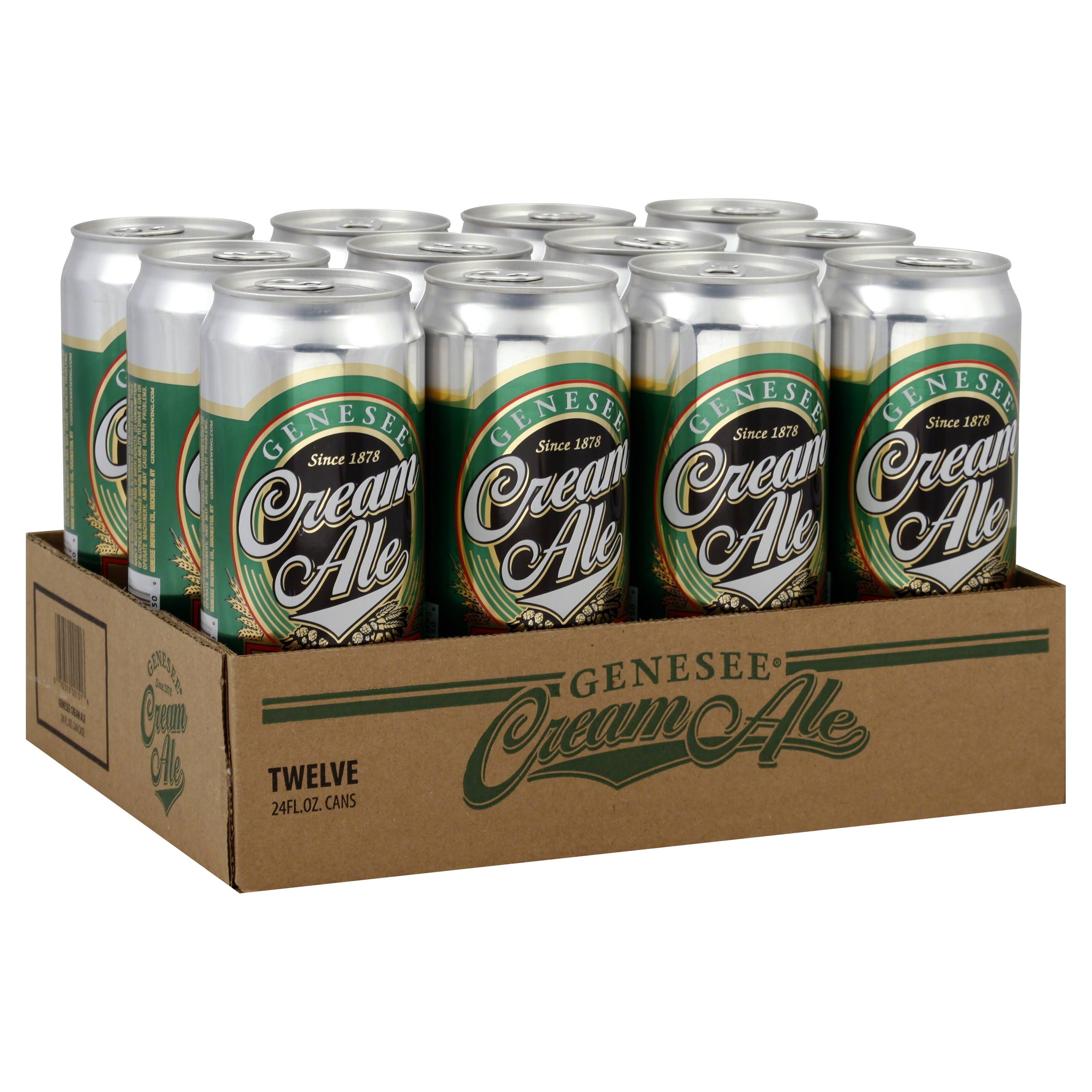 Genesee Ale, Cream - 12 pack, 24 fl oz