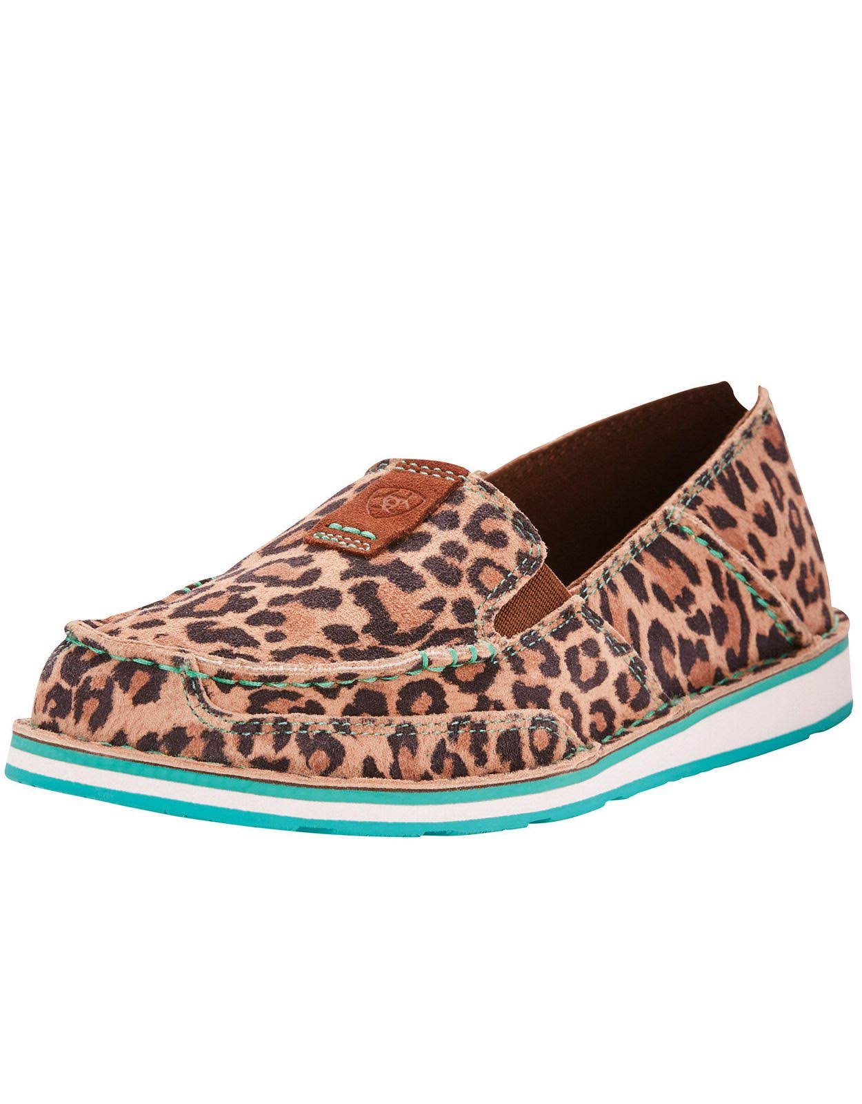 Ariat Cruiser (Cheetah) Women's Slip on Shoes