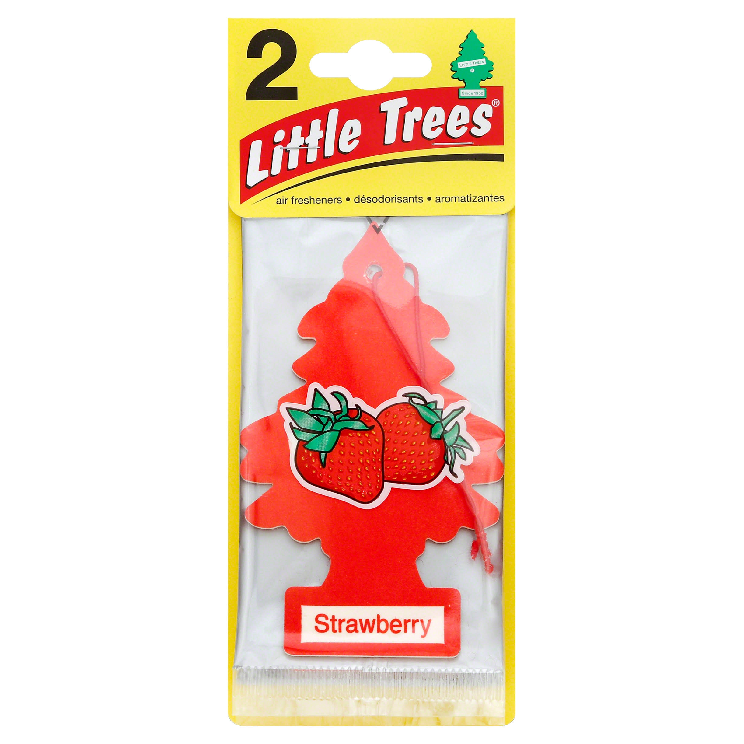 Little Trees Air Fresheners, Strawberry - 2 fresheners
