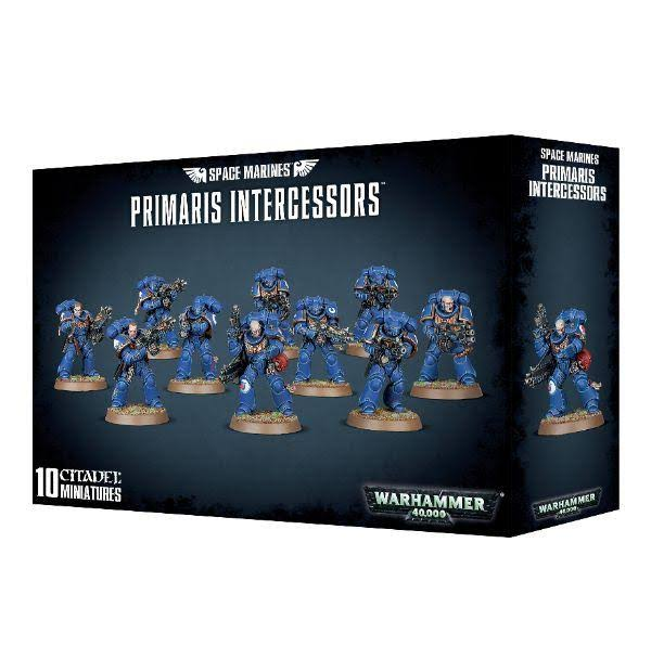 Games Workshop Warhammer 40,000 Space Marines Primaris Intercessors - 10 Citadel Miniatures