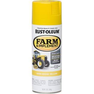Rust-oleum General Purpose Spray Paint - John Deere Yellow, 12oz