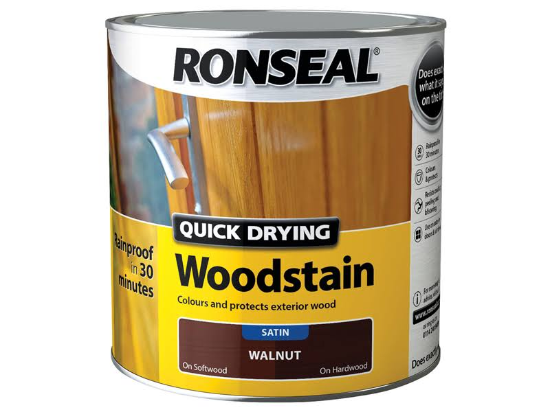 Ronseal Quick Drying Woodstain - Walnut, 750ml
