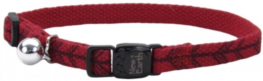 New Earth Soy Printed Breakaway Cat Collar, Cranberry/Arrows
