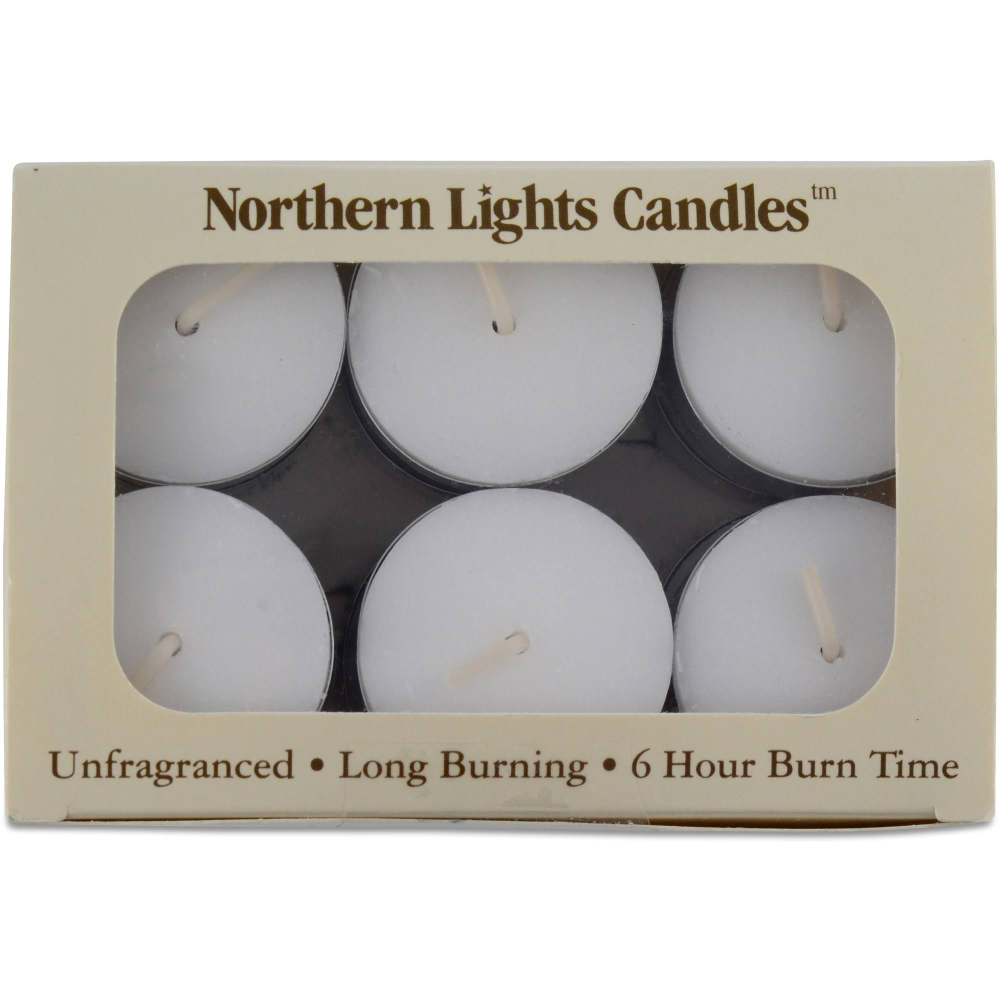 Northern Lights Candles 12-pc. 6 Hour Long-Burning Tealights