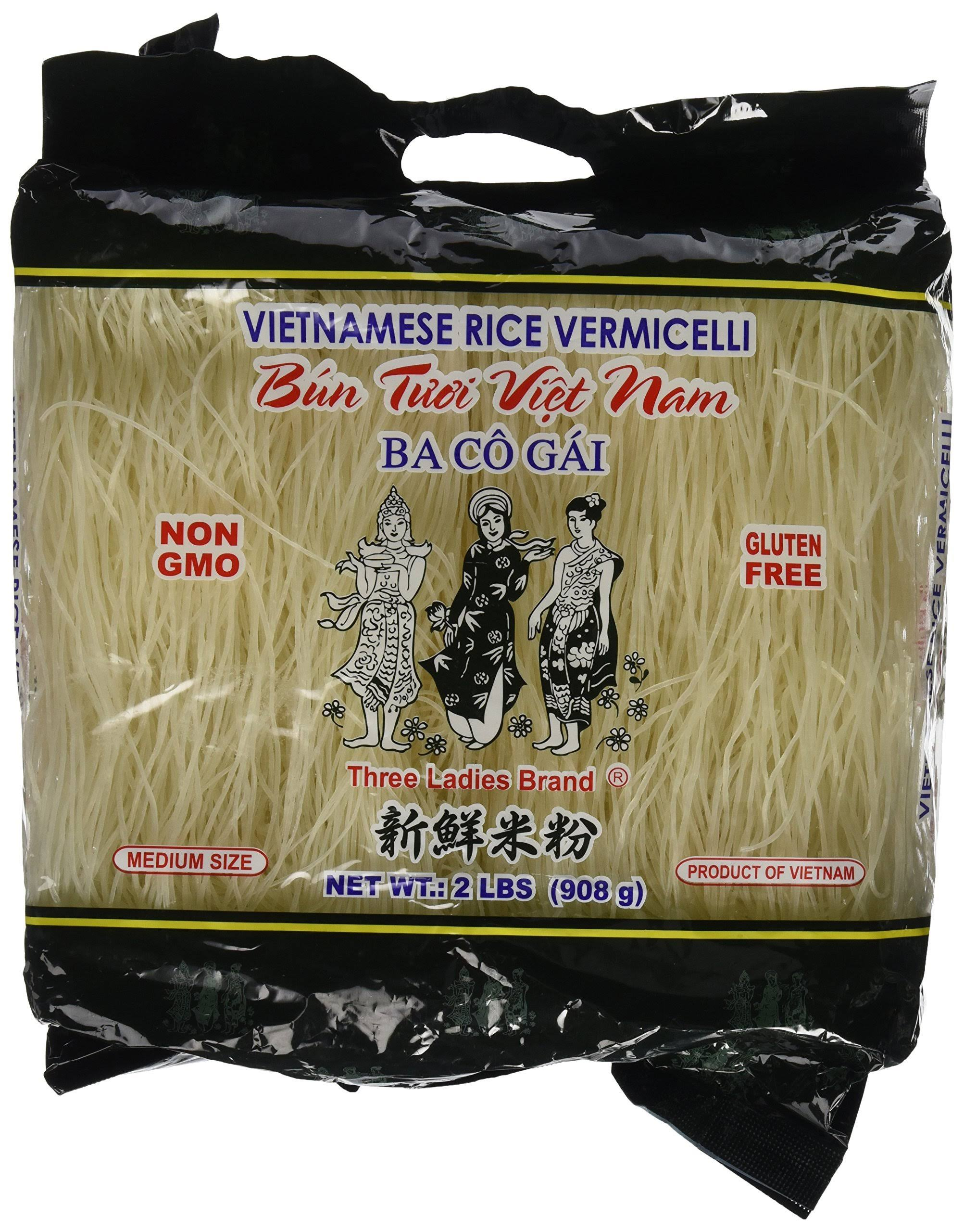 Three Ladies Brand Vietnamese Rice Vermicelli - 2lbs, 2pk