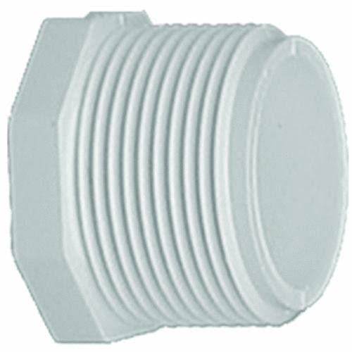 Genova Products PVC Schedule 40 Threaded Plugs - White, 1""