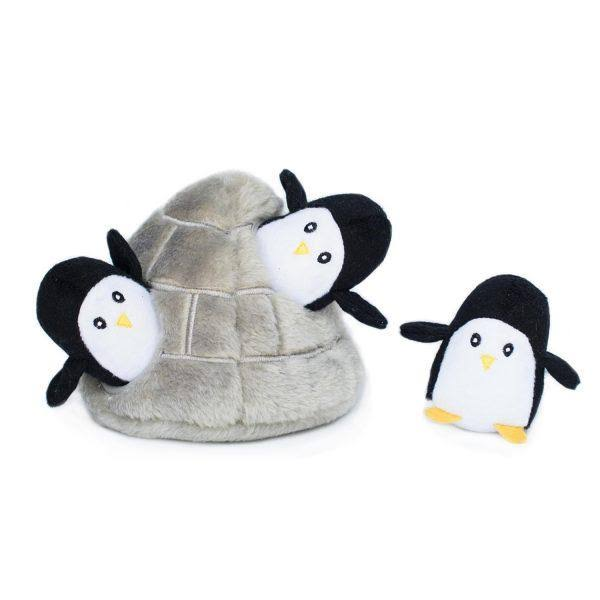 ZippyPaws Burrow Dog Toy - Penguin Cave