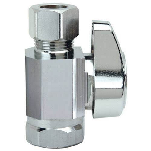 "BrassCraft Chrome Straight Stop Valve - 3/8"" x 3/8"""