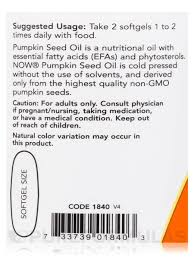 Pumpkin Seed Oil Prostate Side Effects by Seed Oil 1000 Mg 100 Softgels
