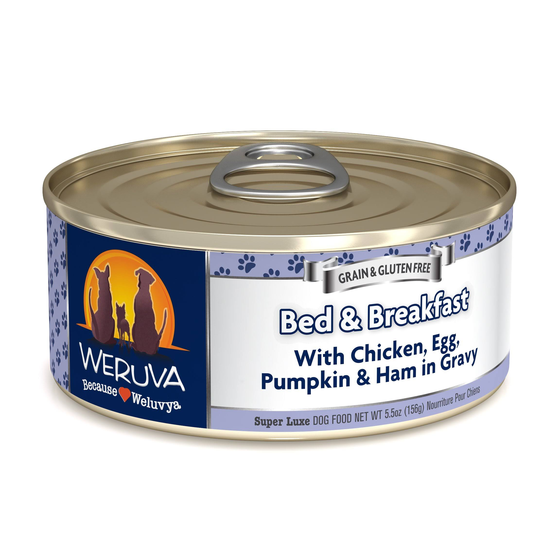 Weruva Bed and Breakfast Dog Food - Chicken, Egg and Pumpkin in Gravy