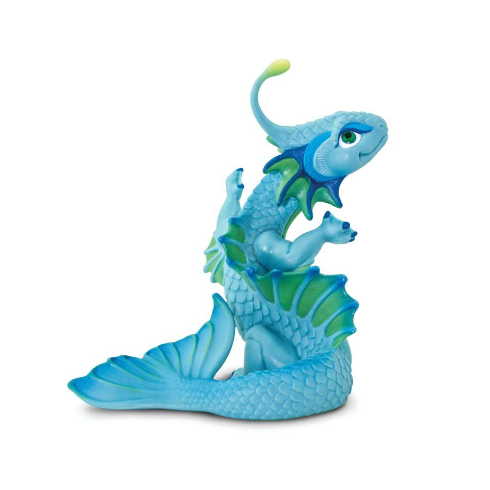Safari Baby Ocean Dragon Miniature - Blue, 11cm