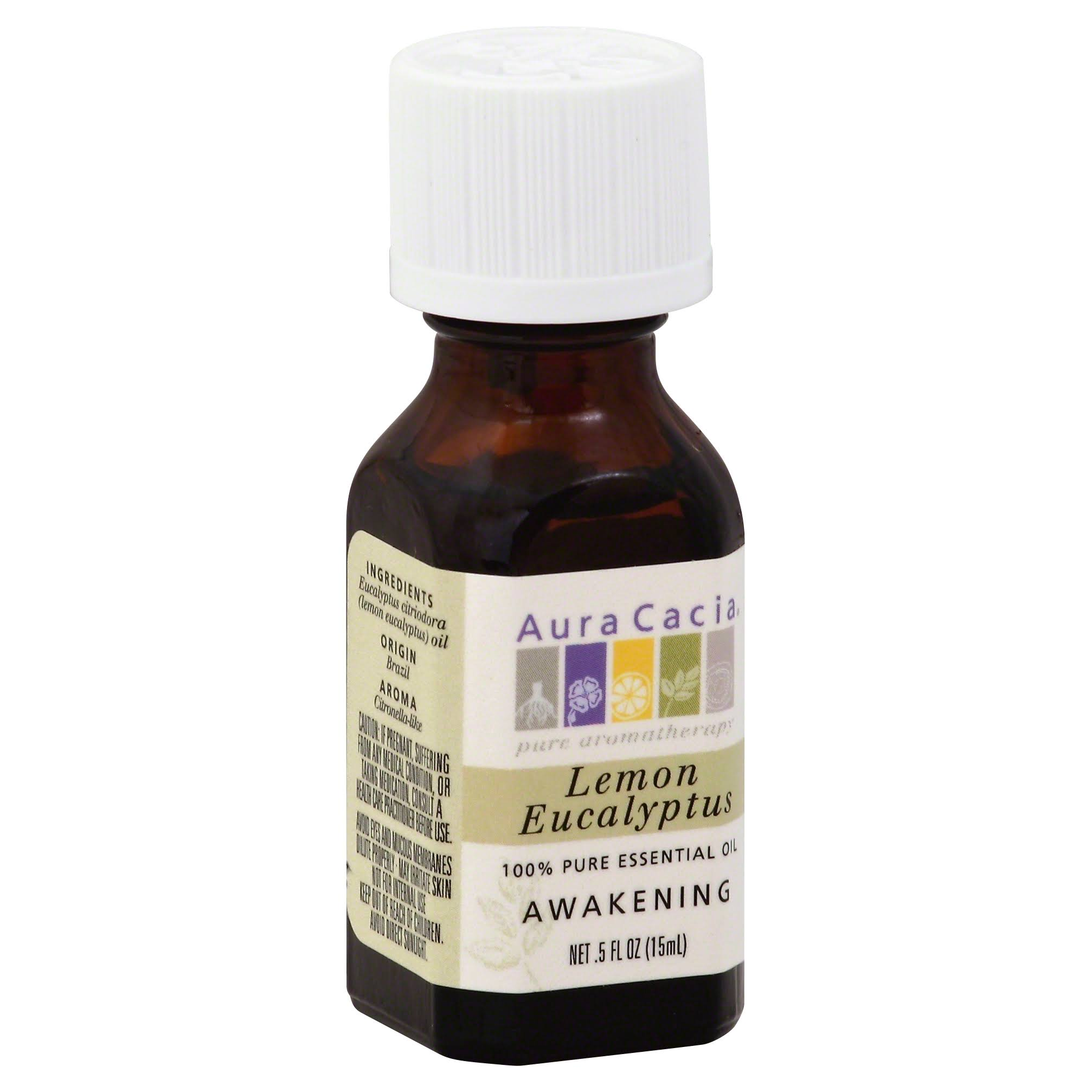 Aura Cacia 100% Pure Essential Oil - Lemon Eucalyptus, 0.5oz