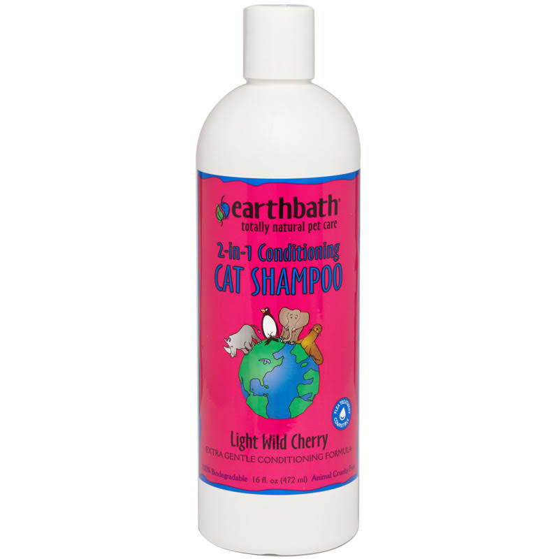 Earthbath All Natural Cat Shampoo and Conditioner in 1 - 16oz