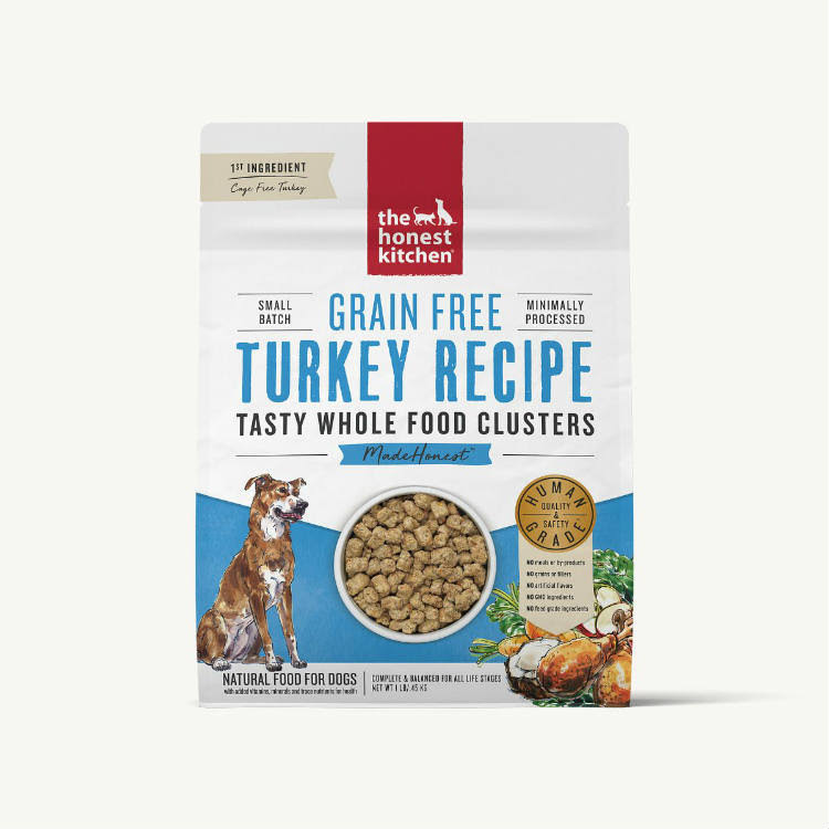 The Honest Kitchen Whole Food Clusters Grain Free Turkey Dog Food 5 lb