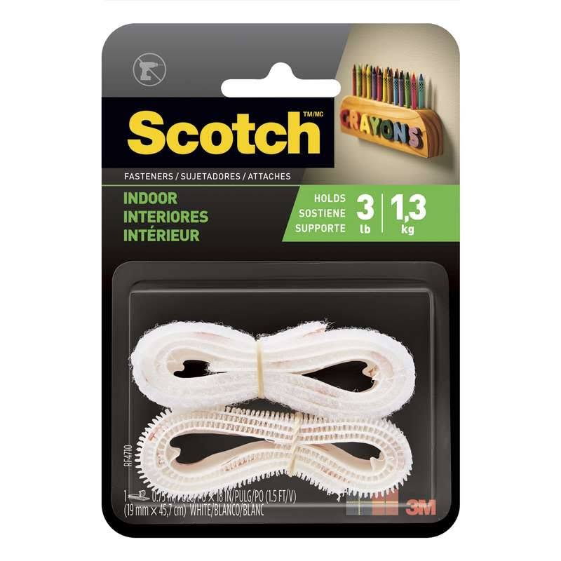 3M Scotch White Indoor Fasteners - 3/4in x 18in