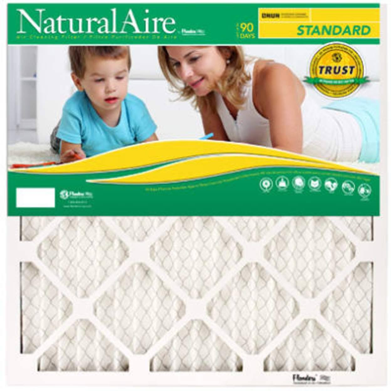 "Naturalaire Standard Air Filter - Merv 8, 10""x10""x1"""