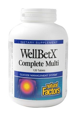 Natural Factors WellBetX Complete Multi Tablets - x120