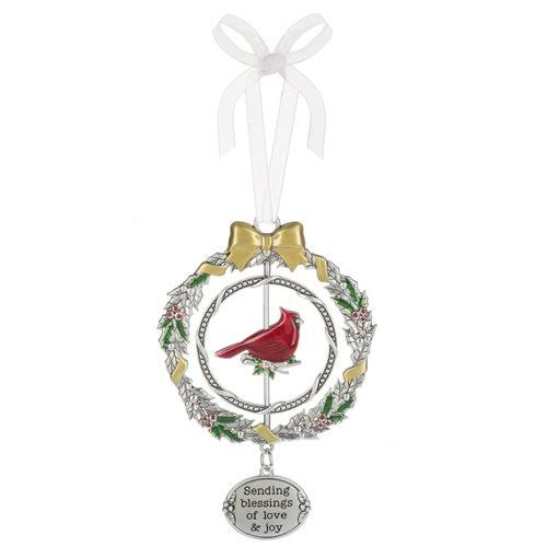 "Ganz Sending Blessings of Love & Joy Christmas Cardinal 3D 4 3/8"" Christmas Ornament"