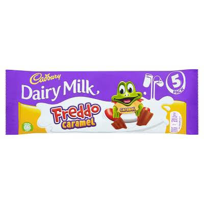 Cadbury Dairy Milk Freddo Caramel Chocolate Bar - 5 Pack, 97.5g