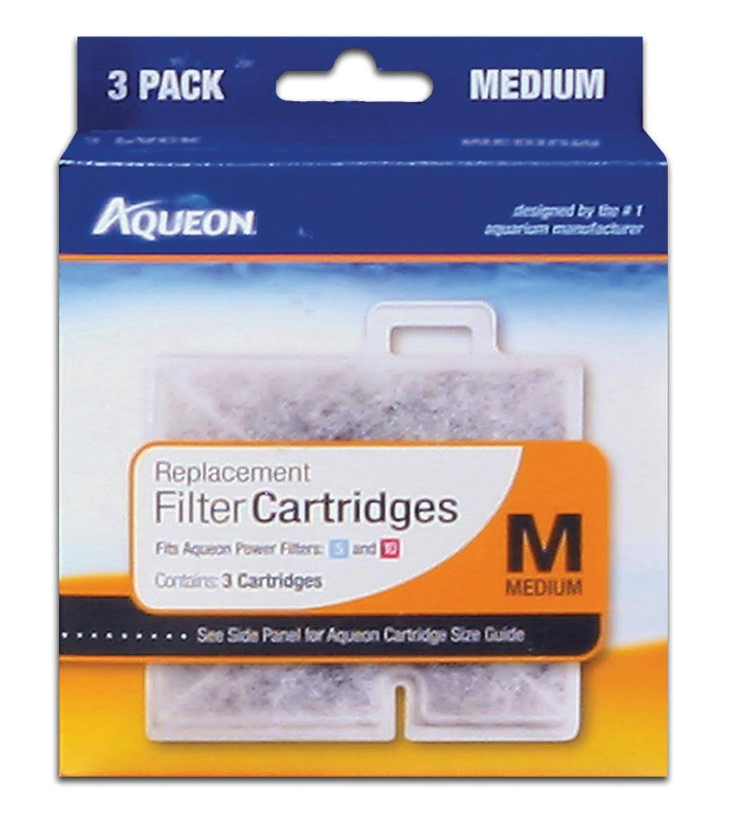 Aqueon Replacement Filter Cartridges - Medium, 3 Pack