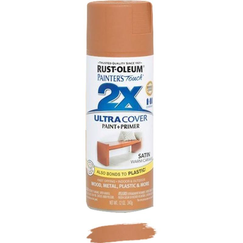 Rust-Oleum Painter's Touch Ultra Cover 2X Enamel Spray - Satin Warm Caramel, 12oz