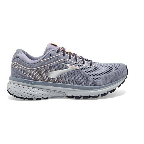 Brooks Women's Granite/Peacoat/Peach Ghost 12 Running Shoes - 9.5