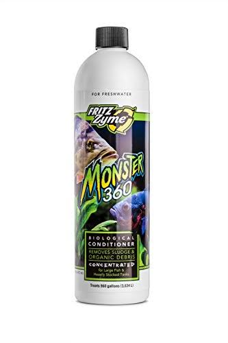 Fritzzyme Monster 360 Concentrated Freshwater Biological Aquarium Cleaner - 16oz