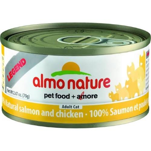 Almo Nature Legend Salmon and Chicken - 2.47 oz can