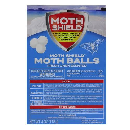 New 816992 Moth Shield Fresh Linen Moth Balls 4oz (24-Pack) Trap and Pesticide Cheap Wholesale Discount Bulk Cleaning Trap and Pesticide Air Freshener